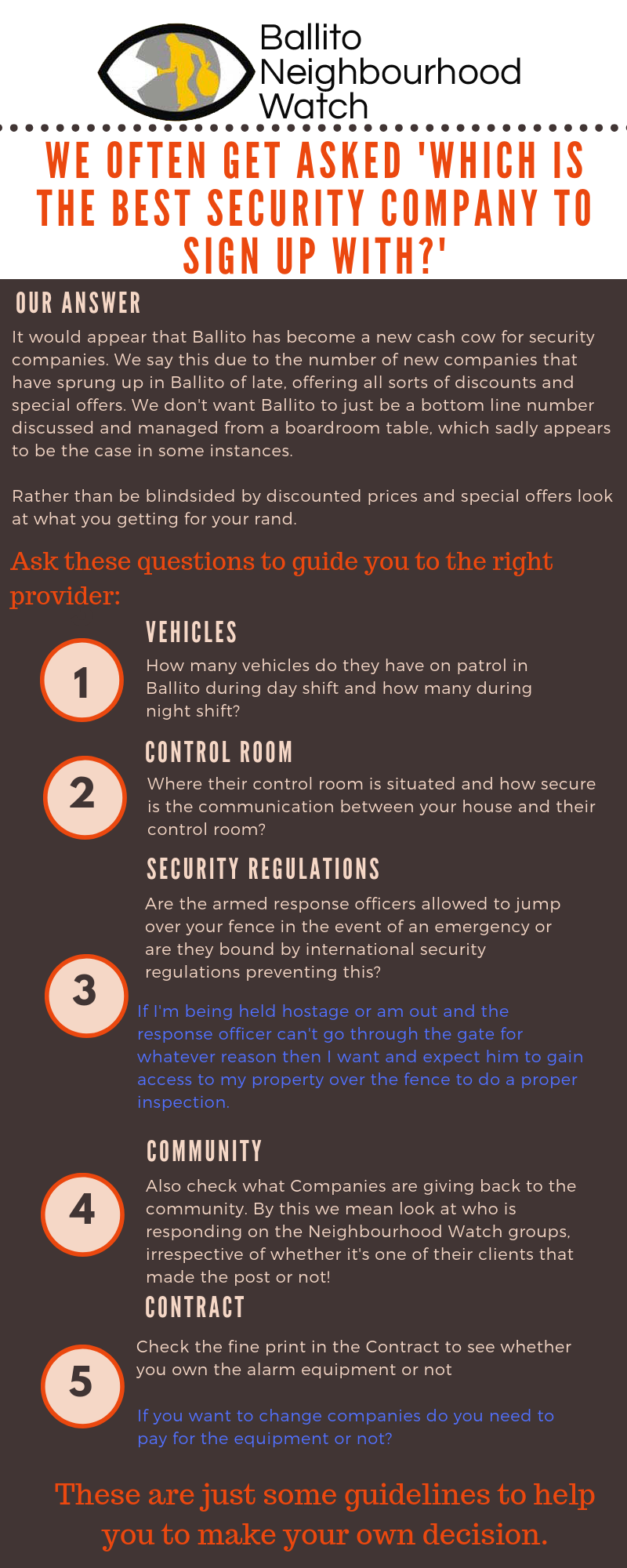 Security Companies – How to pick the right one for you