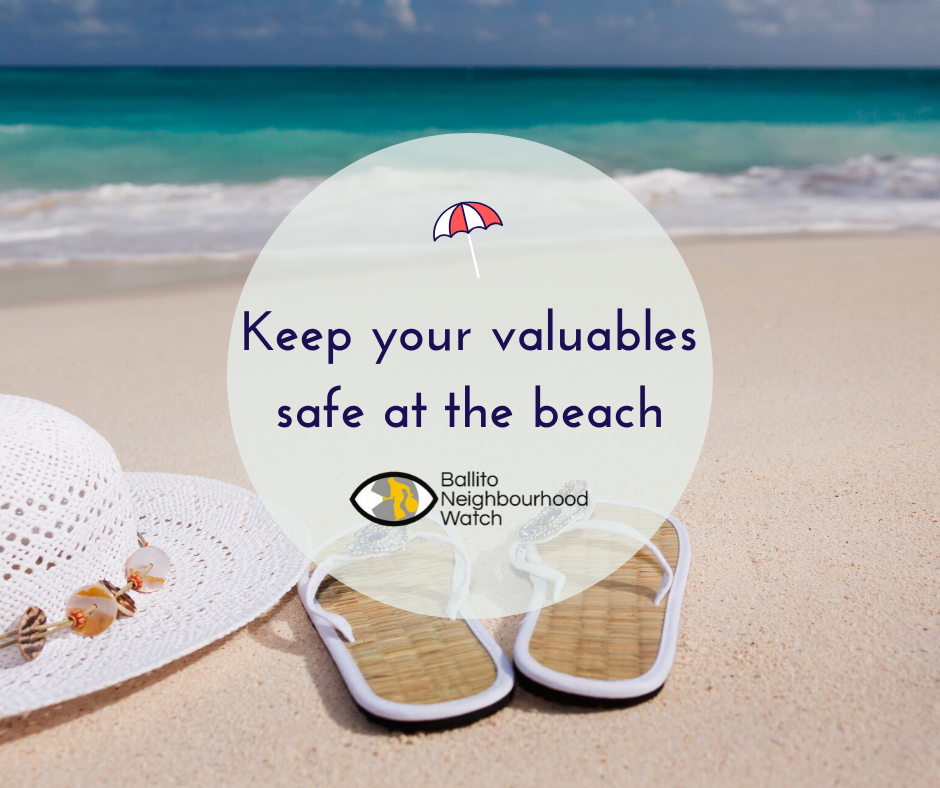 Keep your valuables safe while on the beach