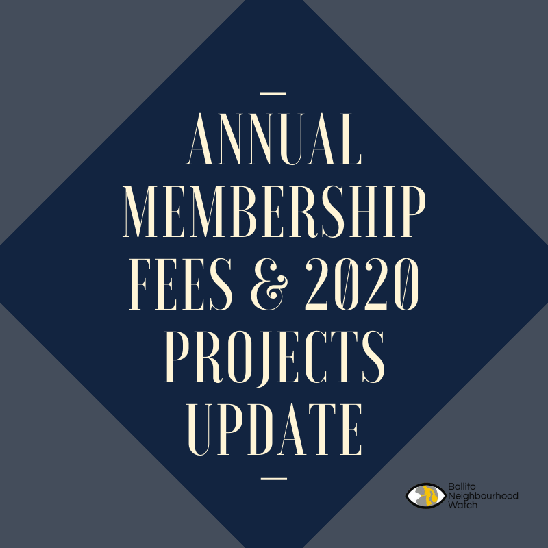 ANNUAL MEMBERSHIP & 2020 PROJECTS