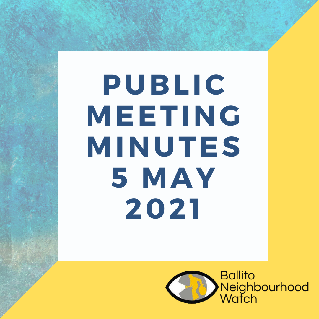 Public Meeting Minutes – 5 May 2021